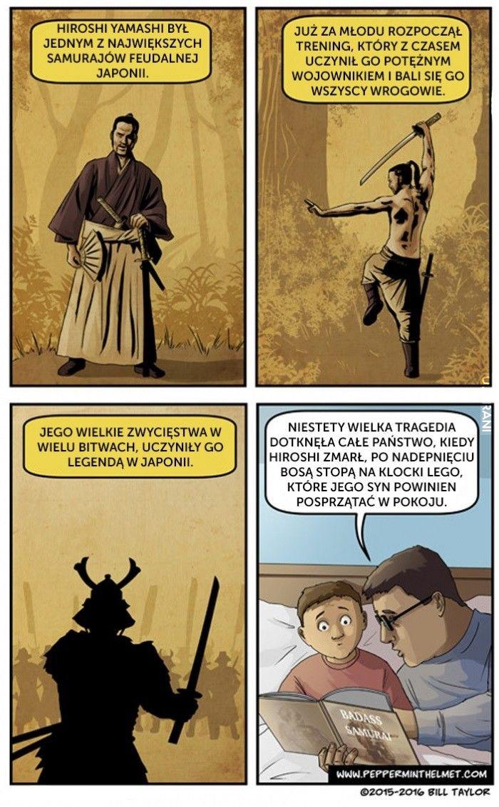 Samuraj pokonany przez Lego