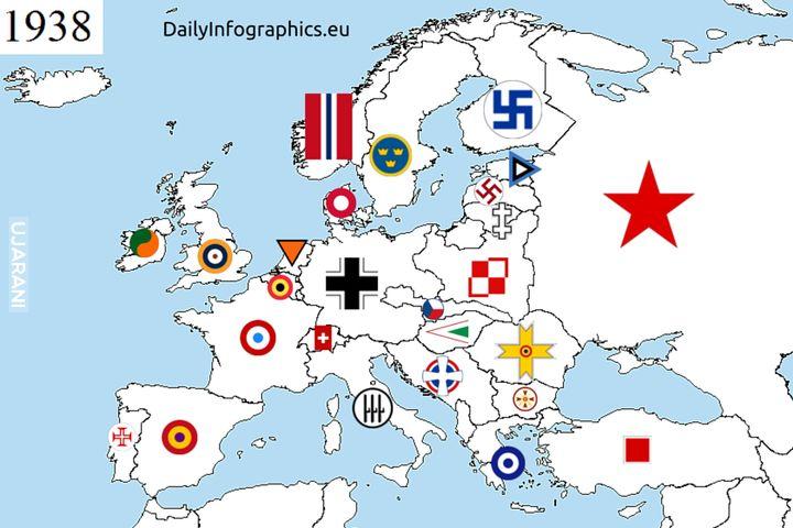 Znaki lotnictwa wojskowego prze II WŚ
