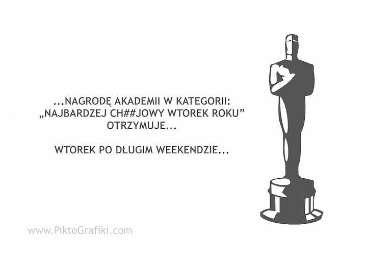 po weekendzie...