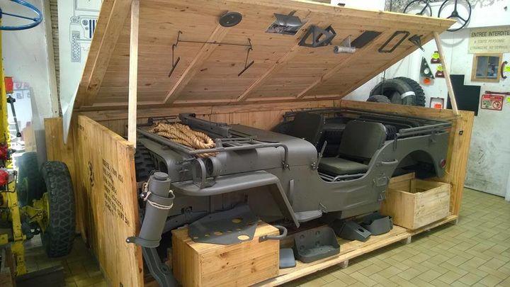 Transport Jeep-ów podczas II Wojny Światowej