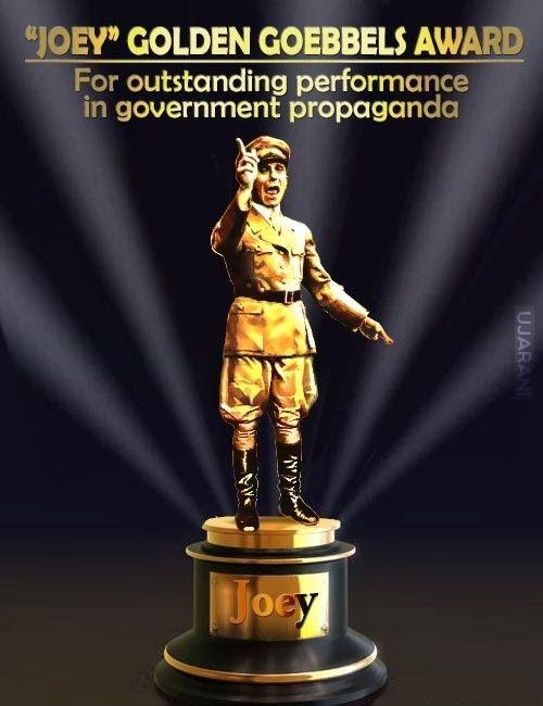 Złoty Goebbels za najlepszą propagandę dla Putina