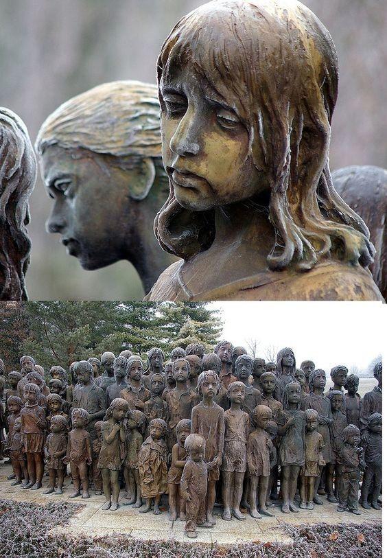 Pomnik w Lidicach