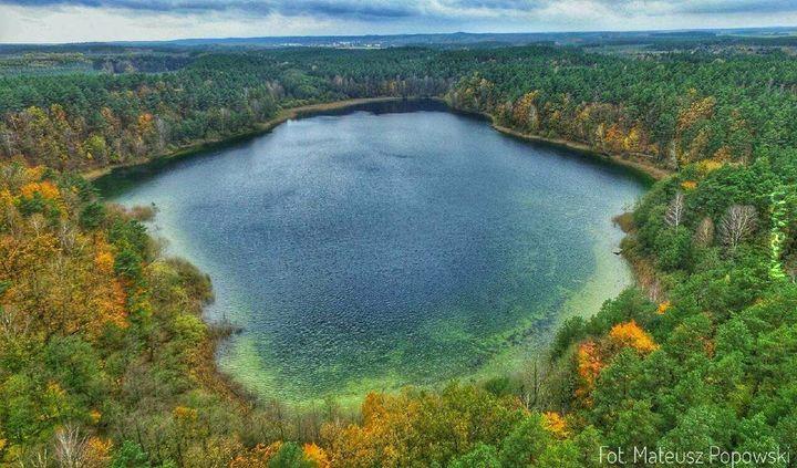 Jedno z czterech jezior znajdujacych się w obręcie 3 km . ode mnie .