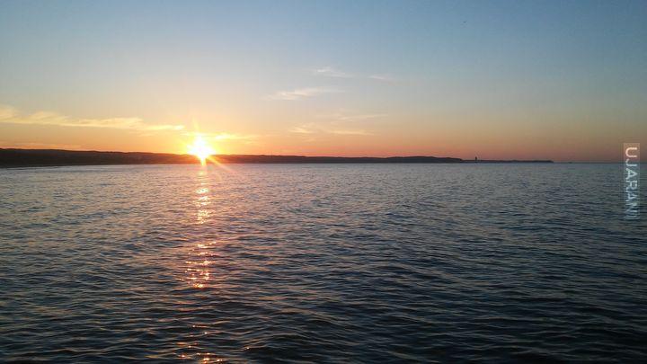 Zachód Słońca z Gdańska