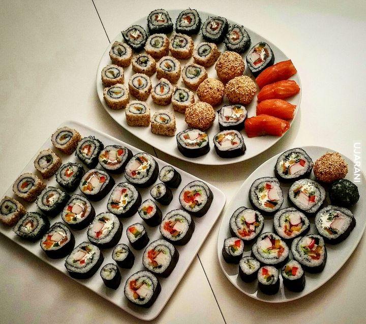 Sushi produkcji mojej żony
