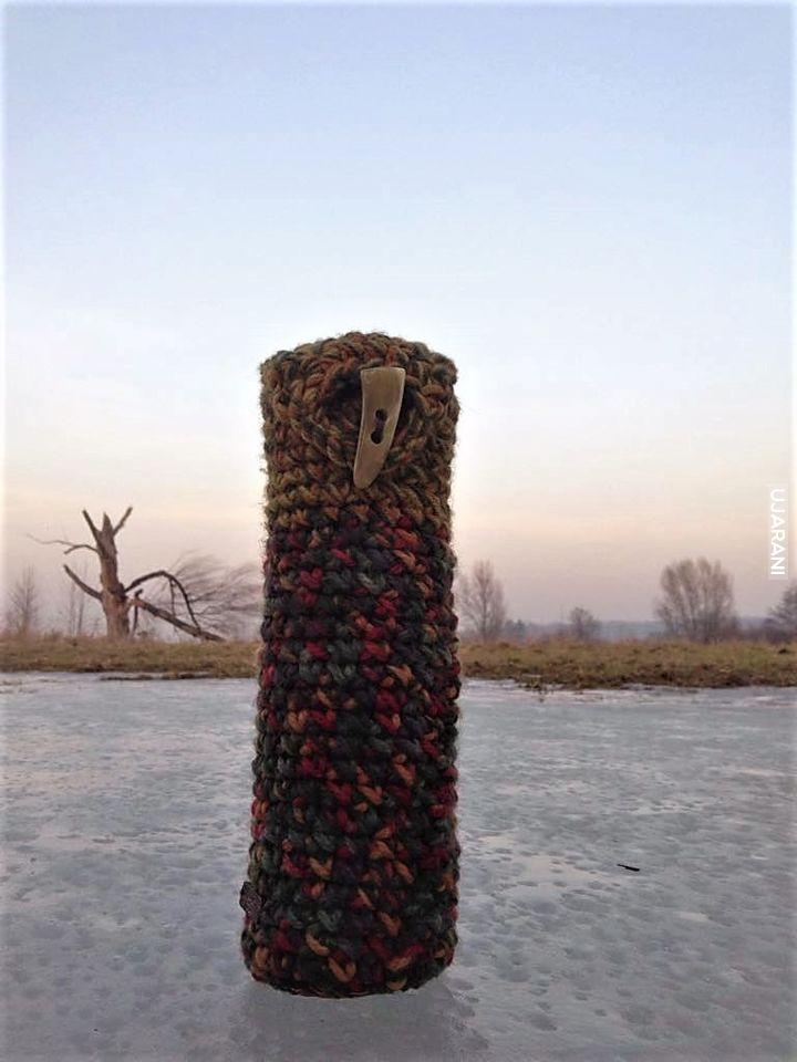 Termosowy ocieplacz. Handmade, szydełko.