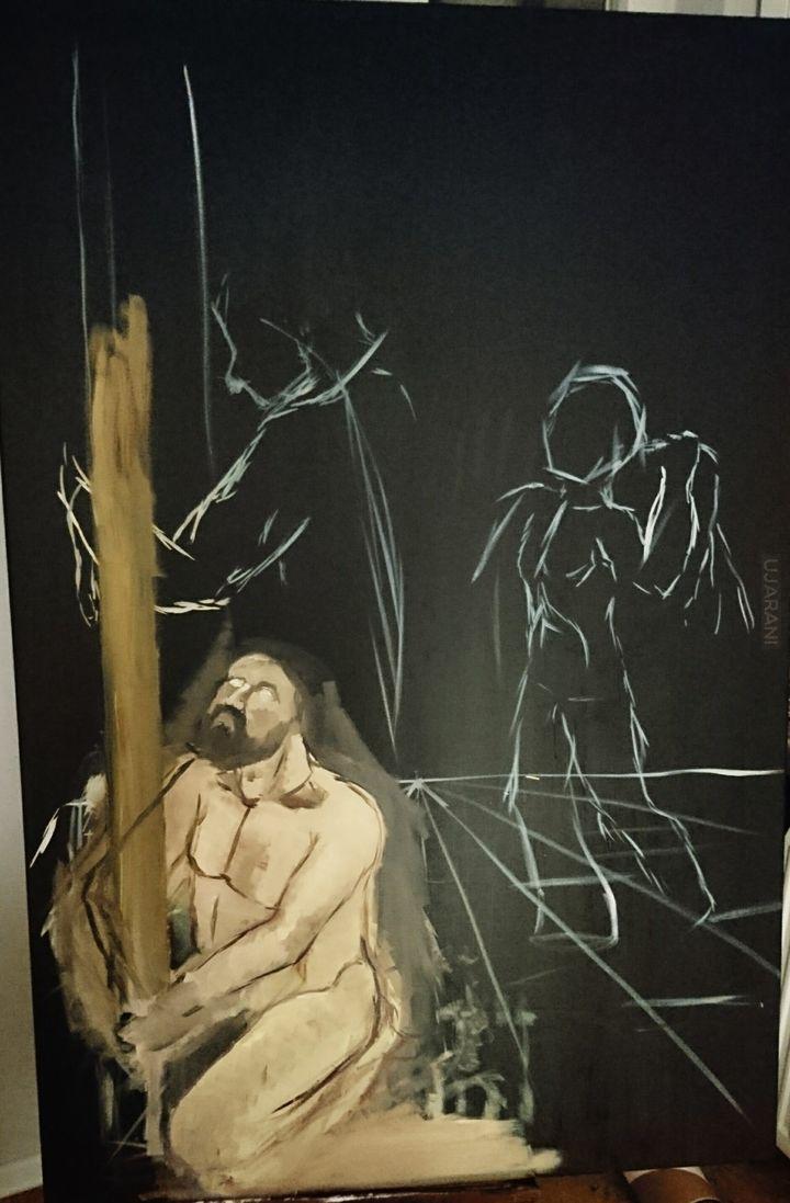 Biczowanie Jezusa (obraz własny)