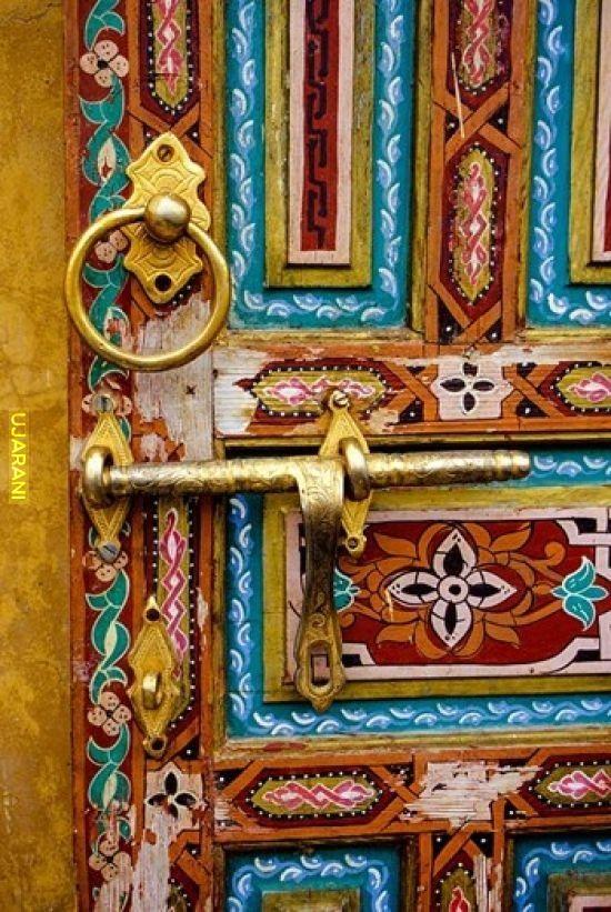 Drzwi, Fez, Maroko