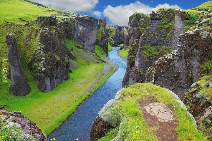 Kanion Fjaðrárgljúfur w Islandii