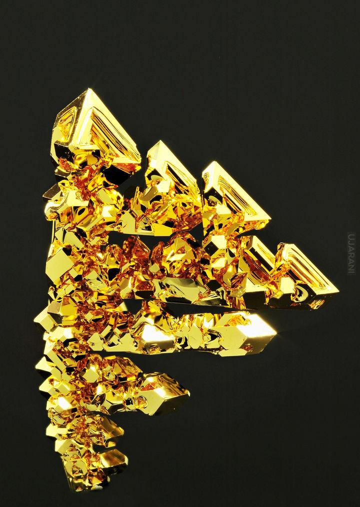 Skrystalizowane złoto