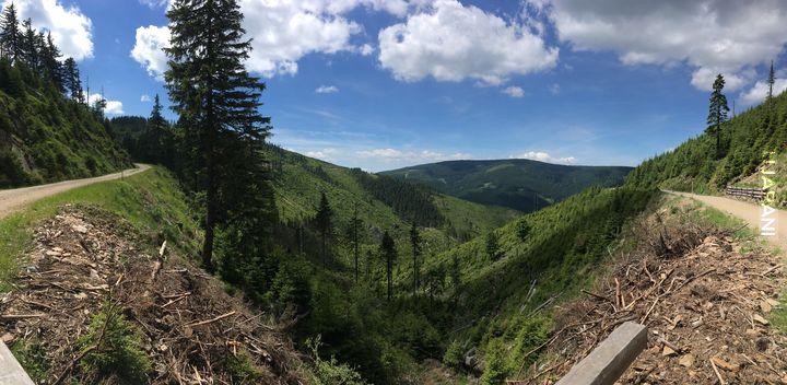 Trip- Dolní Morava, spacer w chmurach i zjazd hulajnogą