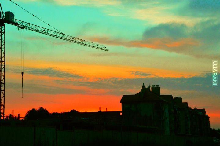 Wschód słońca w moim mieście :)