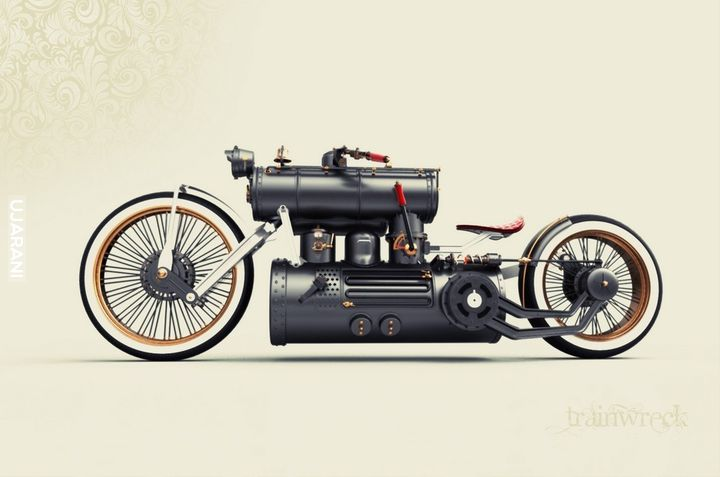 Steampunk moto