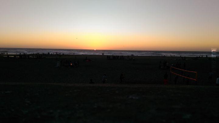 Zachód słońca nad Pacyfikiem