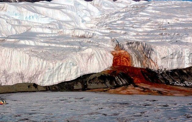 Krwawe wodospady, Antarktyda