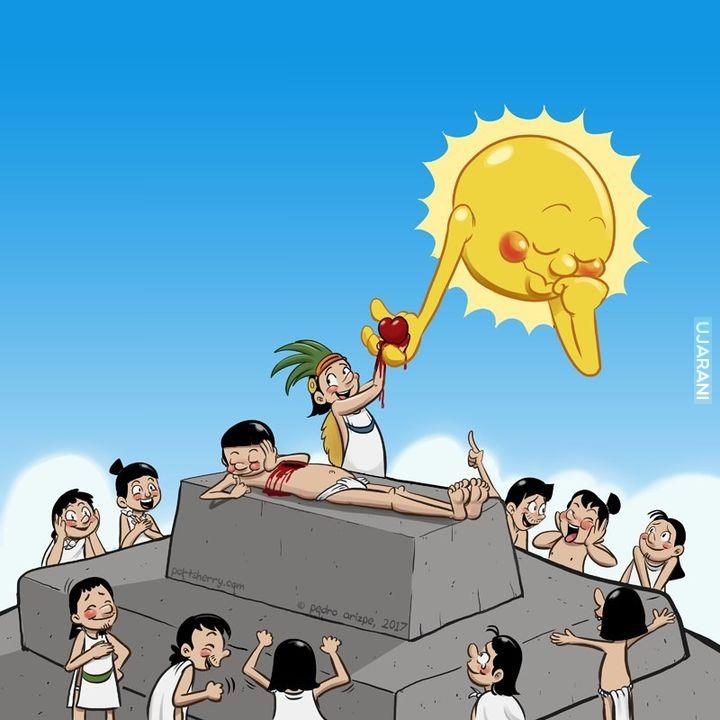 Kulturalni Aztekowie kochają słońce całym sercem