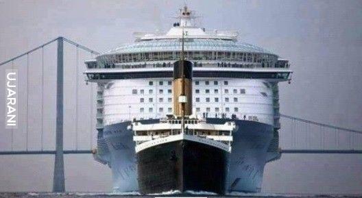 Titanic vs dzisiejsze statki rejsowe