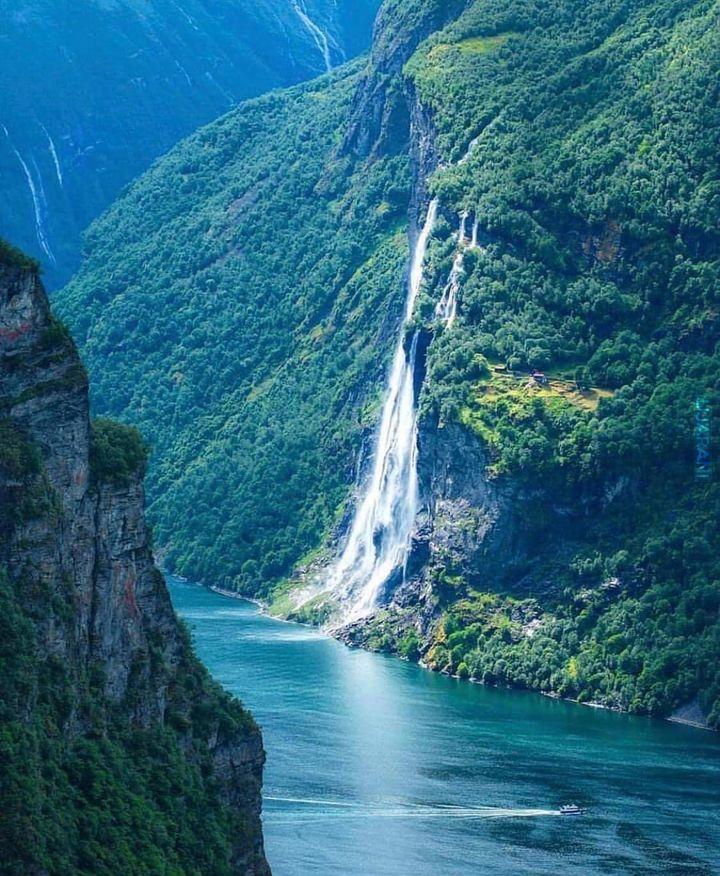 Wodospad Siedmiu Sióstr w Norwegii