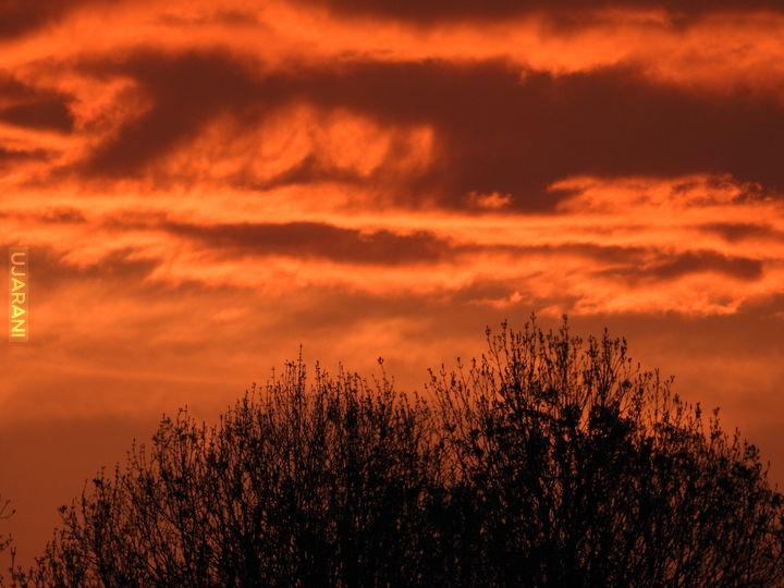 przy zachodzie słońca