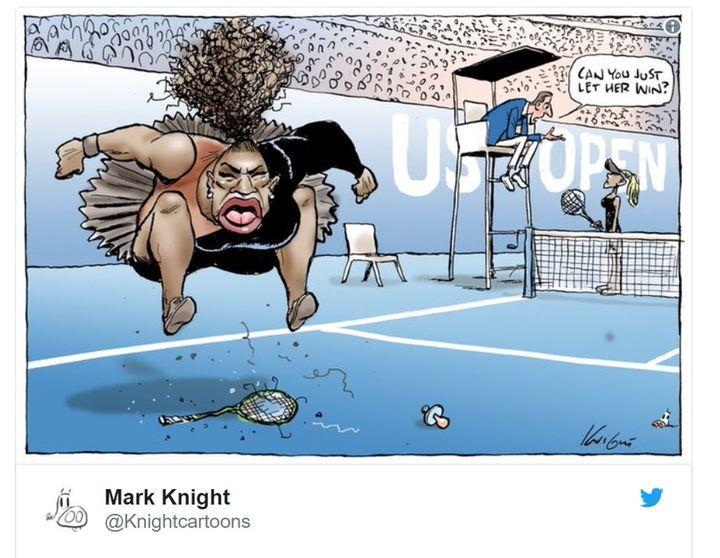 Świat tenisa zbulwersowała grafika