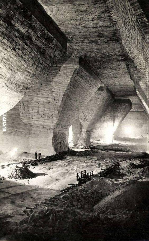Kopalnia soli Ocna Dejului, Rumunia 1940 rok