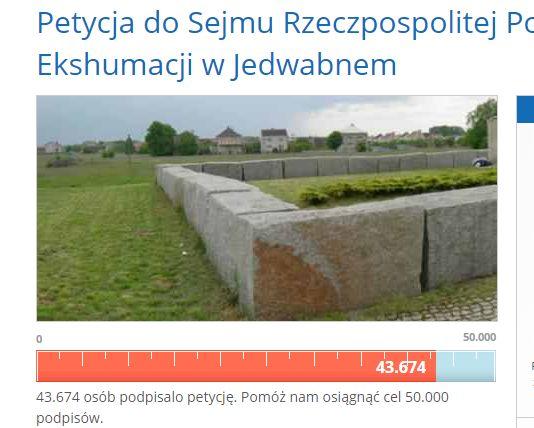 Petycja do Sejmu Rzeczpospolitej Polskiej w Sprawie Wznowienia Ekshumacji w Jedwabnem