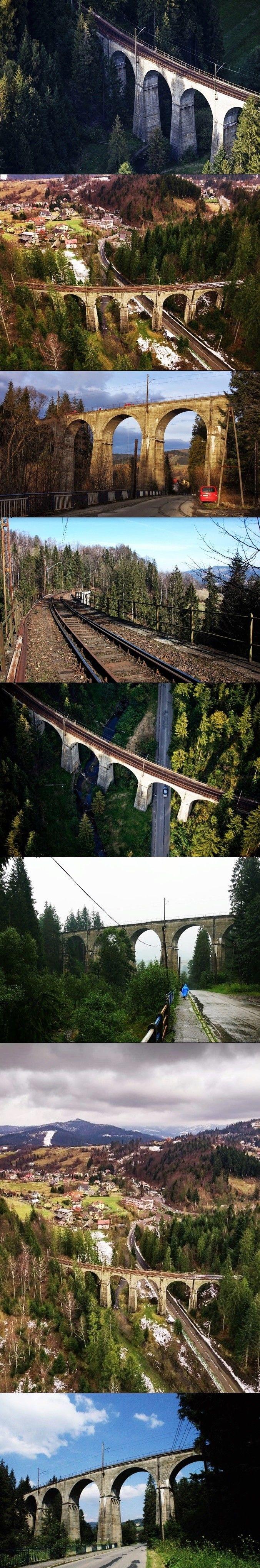 Wiadukt kolejowy / Wisła Głębce