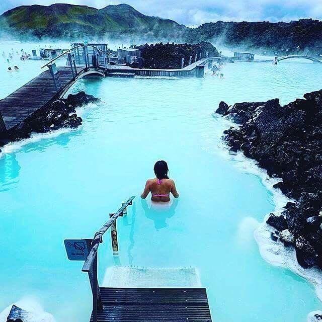 Błękitna laguna w Islandii