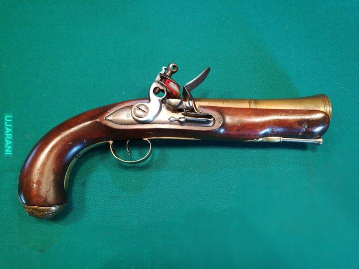 Garłacz - tromblon z mosiężną lufą XVIII w.