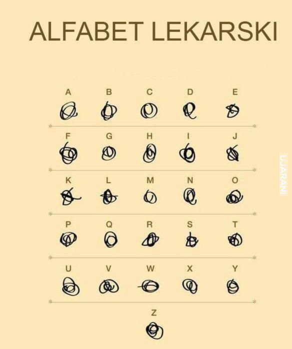 Alfabet Lekarski