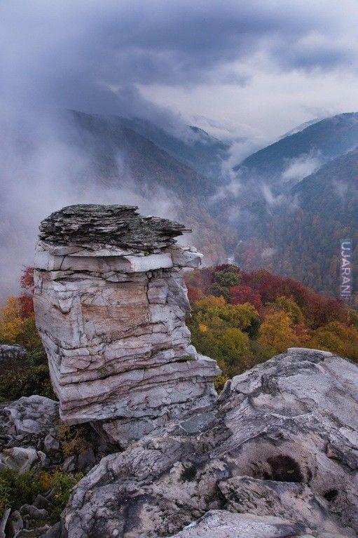 Lindy Point jesienią zach Virginia