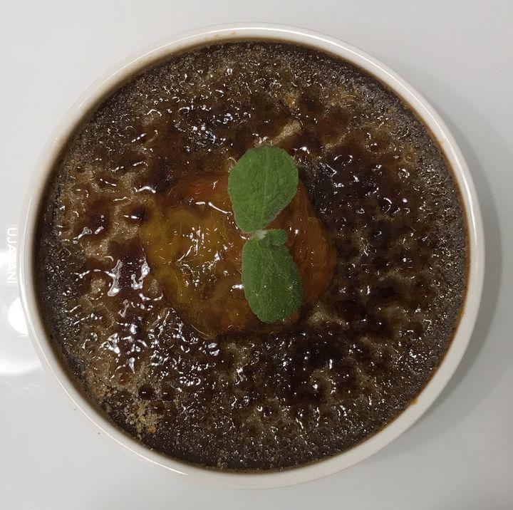 Czekoladowe Crème brûlée / konfitura z pomarańczy