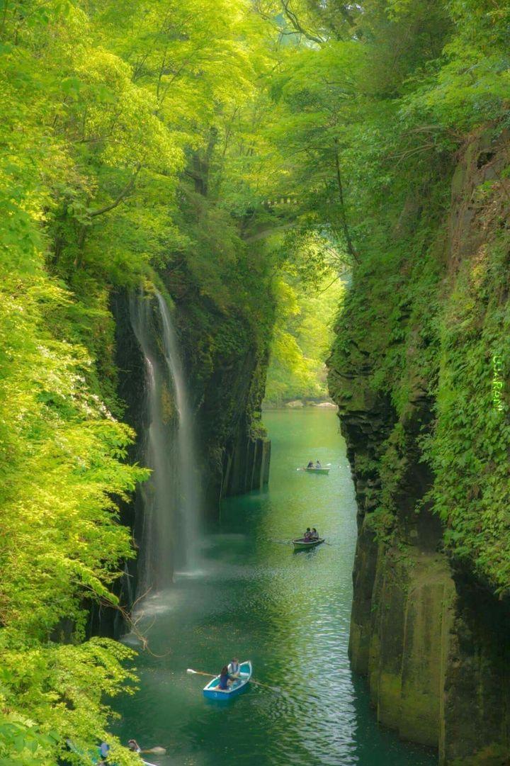 Wodospad Manai w Japonii