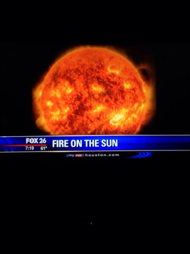 Pożar na słońcu