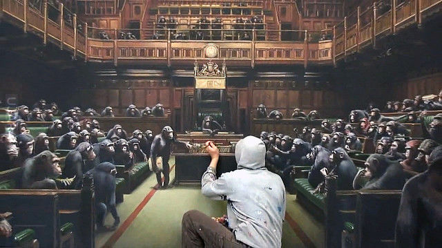 Monkey Parliament-Banksy