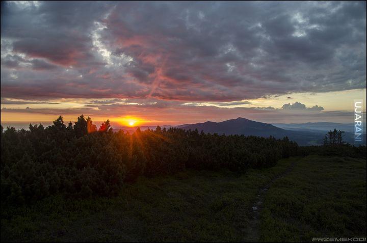 Wschód słońca na Pilsku