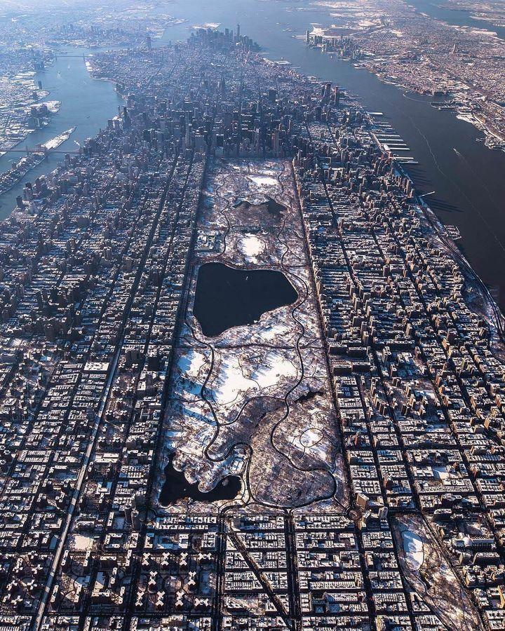 Manhattan zimą
