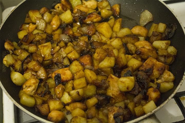 Teriyaki ziemniaki