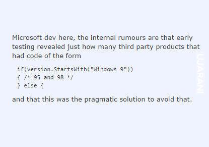 Dlaczego Windows 10, a nie 9