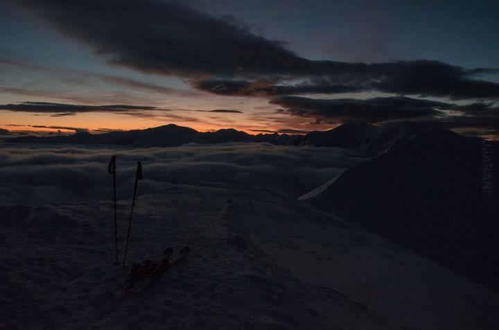 wieczorny chill w górach