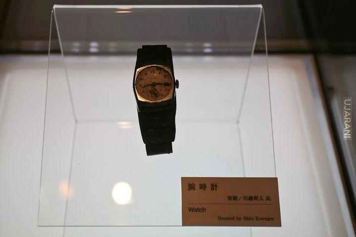 Zegarek Akito Kawagoe zatrzymany na wybuchu w Hiroszimie