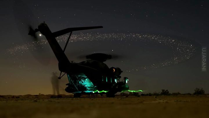 Sikorsky CH-53 by night