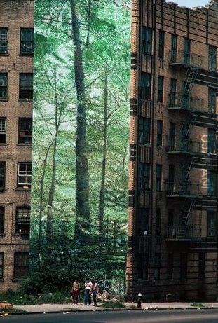 Fototapeta czyli mural w Bronx NYC