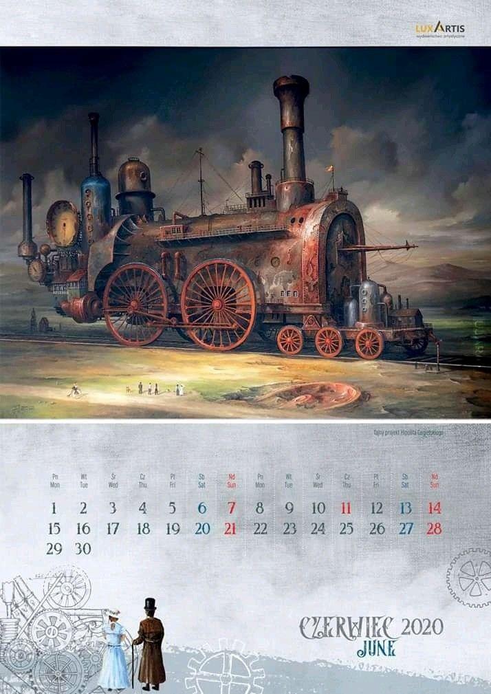 Parowozy 2020 - kalendarz J. Jaśnikowskiego