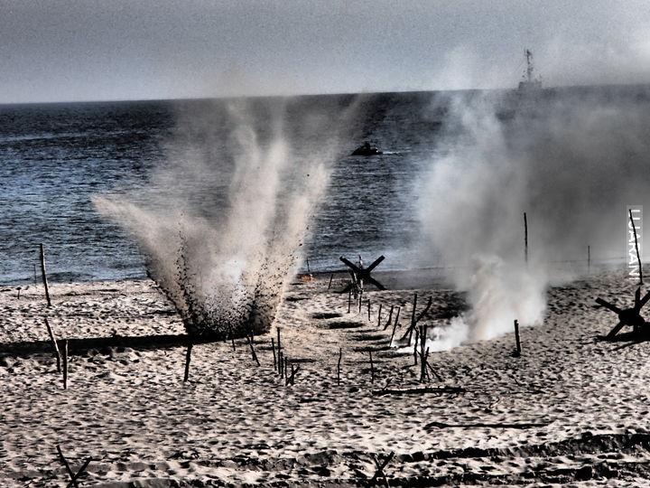 D-Day Normandia 1944 r. Rekonstrukcja Desantu w Helu.