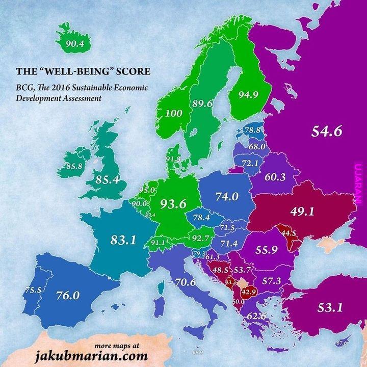 Gdzie jest bogato a gdzie jest biednie w Europie