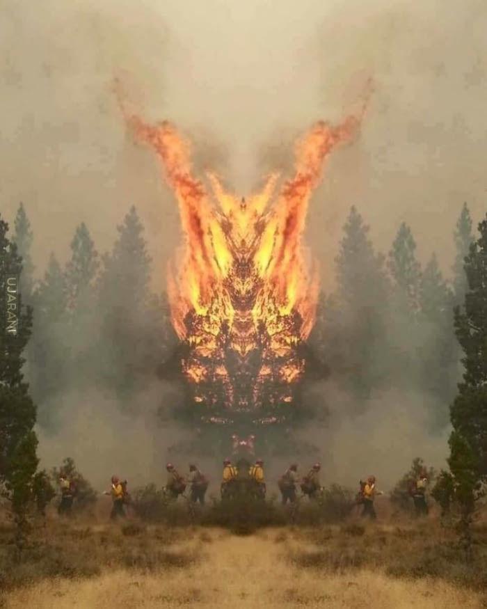 Lustrzane odbicie podczas pożaru