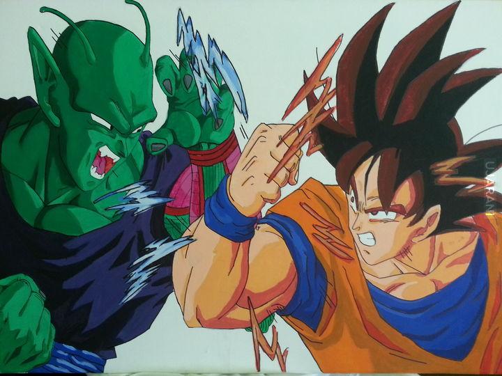 Piccolo vs Goku-God