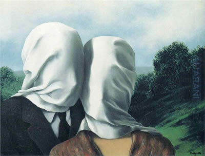 The Lovers (1928) – Rene Magritte painting