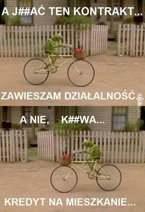 Kupił rower...